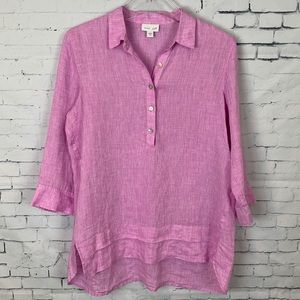 J. Jill  Beautiful Love Linen Lavendar Button Down